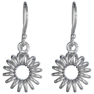 Decadence Sterling Silver Flower Drop Earrings