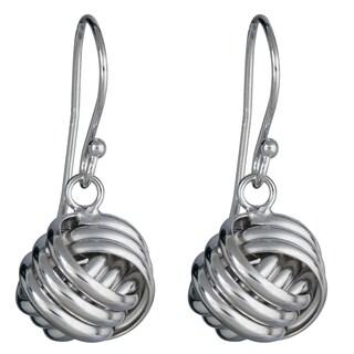 Decadence Sterling Silver Love Knot Drop Earrings