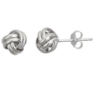 Decadence Sterling Silver Love Knot Stud Earrings|https://ak1.ostkcdn.com/images/products/10673769/P17738078.jpg?impolicy=medium