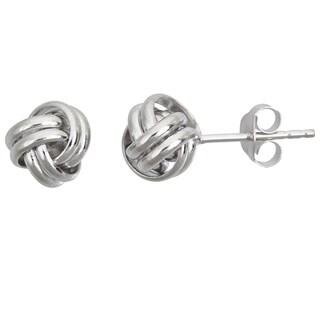 Decadence Sterling Silver Love Knot Stud Earrings