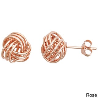 Decadence Sterling Silver Love Knot Medium Stud Earrings