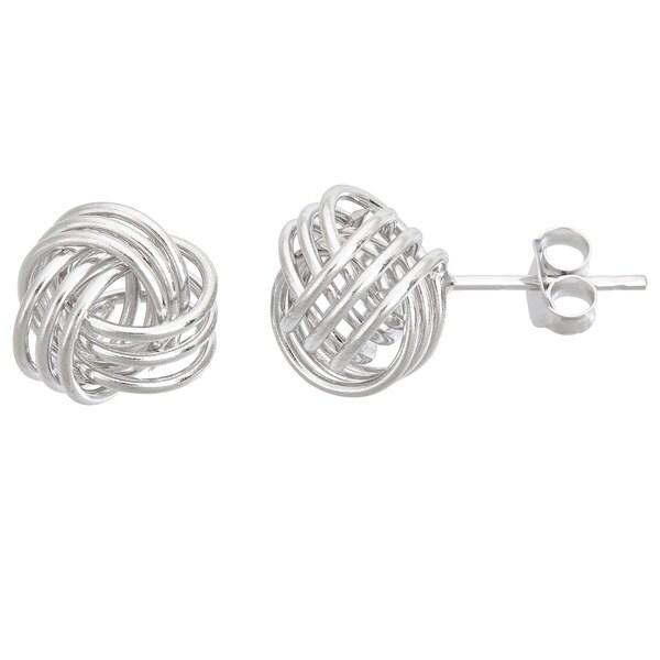 Decadence Sterling Silver Love Knot Medium Stud Earrings