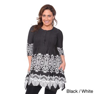 White Mark Women's Plus Size 'Lucy' Top Tunic (More options available)