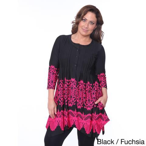 White Mark Women's Plus Size 'Lucy' Top Tunic