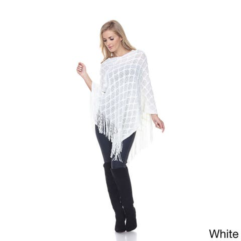 White Mark Women's Frostine Poncho