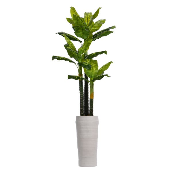 93-inch Real Touch Evergreen In Fiberstone Planter