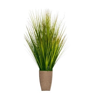 Laura Ashley 37-inch Onion Grass in Hemp Rope Planter