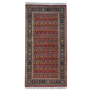 Hand-knotted Paisley Design Agra Oriental Area Rug (4'10 x 9'8)
