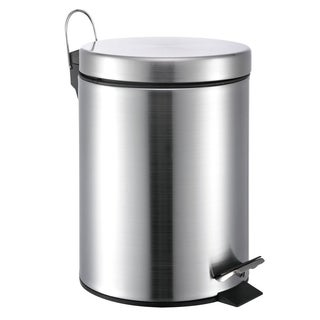 Round Stainless Steel Step-lift Lid 5-liter Garbage Can