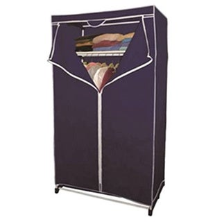 36-inch Wardrobe Portable Closet with Top Shelf
