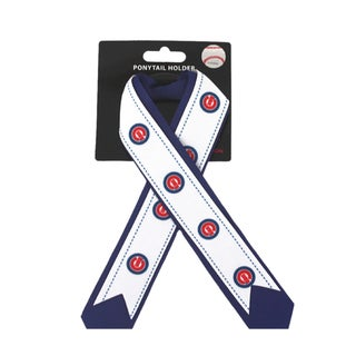 Chicago Cubs MLB Ladies Ponytail Holder with Ribbon