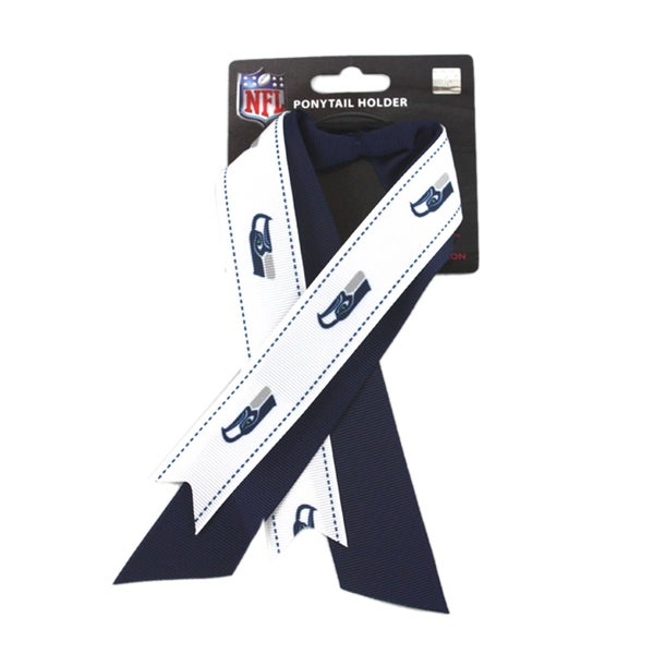 Seattle Seahawks NFL Ladies Ponytail Holder with Ribbon