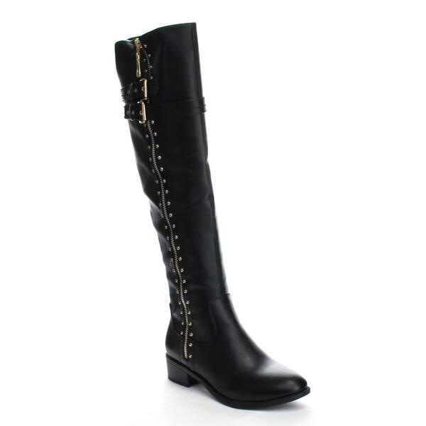 507d3f556e99f Beston GA54 Women's Knee High Studs Side Zipper Chunky Heel Riding Boots