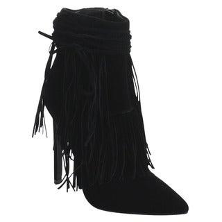 Beston GA48 Women's Chic Stiletto Heels Side Zipper Fringe Ankle Booties