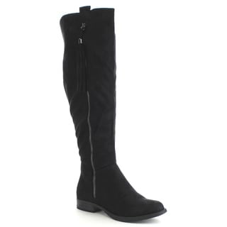 SODA ABELA Women's Decorative Tassel Full Zipper Knee High Riding Boots