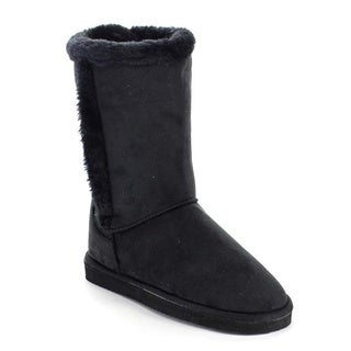 Beston AA49 Women's Faux Fur Pull On Mid Calf Boots