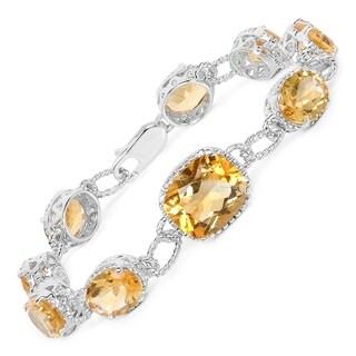 Malaika Sterling Silver 18 2/5ct Citrine Bracelet