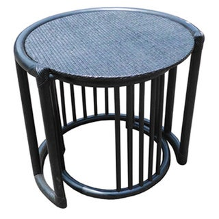 Set of Two D-Art Rattan Wicker Nesting Tables (Indonesia)