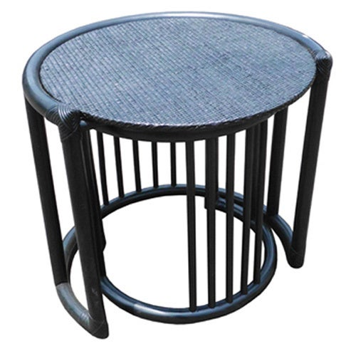 Genial Set Of Two D Art Rattan Wicker Nesting Tables (Indonesia)