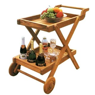 Handmade D-Art Teak Butler Serving Trolley (Indonesia) - Natural