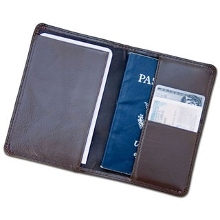 Dacasso Chocolate Brown Leather Passport Holder