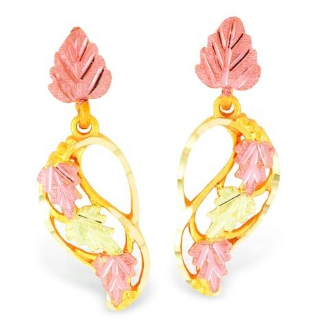 Black Hills Gold Dangle Earrings