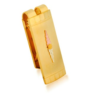 Black Hills Gold on Brass Money Clip - Multi