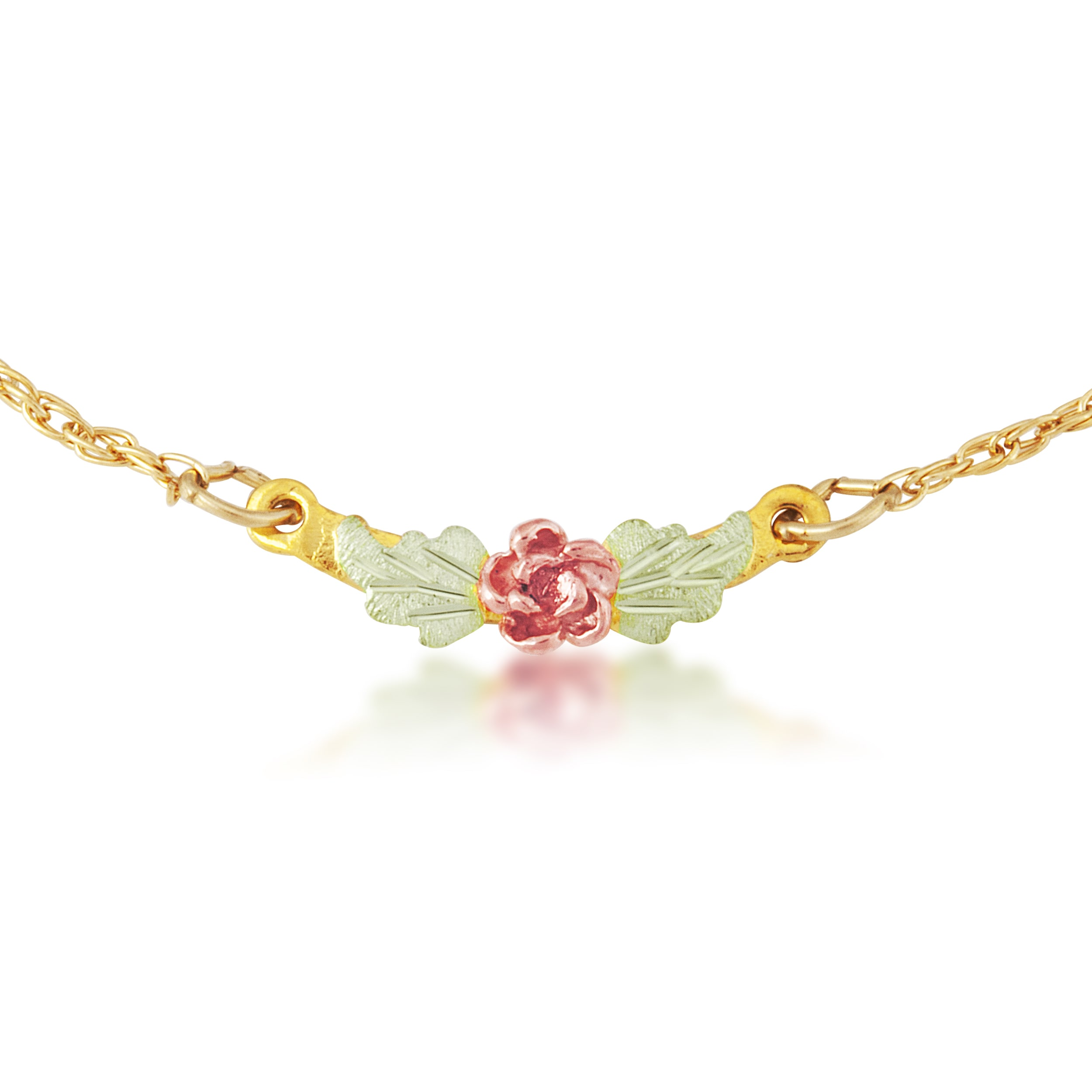 Black Hills Gold Rose Ankle Bracelet (Gold), Adult Unisex...