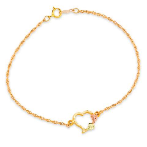 Black Hills Gold Heart Bracelet