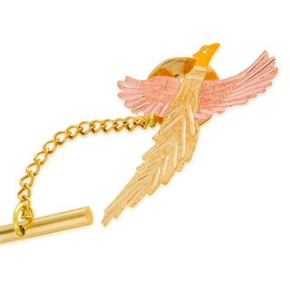 Black Hills Tri-color Gold Pheasant Tie Tack