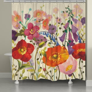 Laural Home Pink Meadow Shower Curtain