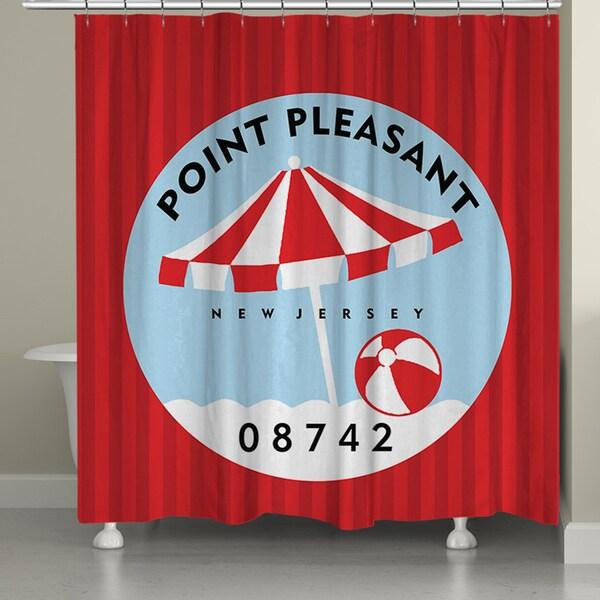 Laural Home Point Pleasant Beach I Shower Curtain (71-inch x 74-inch)