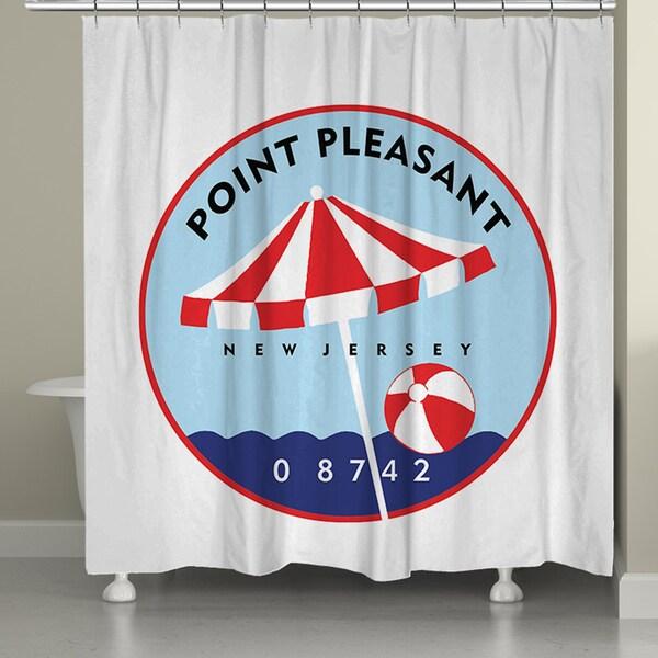 Laural Home Point Pleasant Beach II Shower Curtain (71-inch x 74-inch)