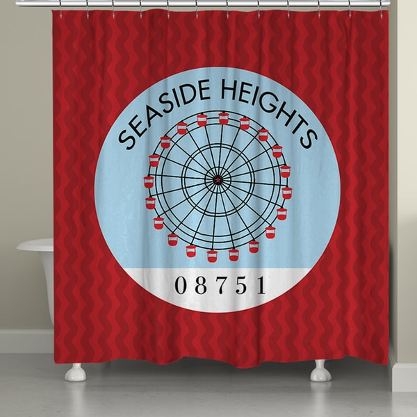 Laural Home Seaside Jersey Shore I Shower Curtain (71-inch x 74-inch)