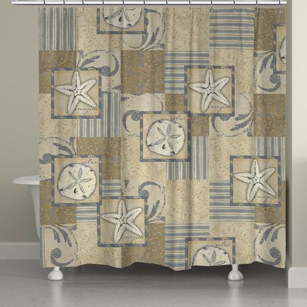 Laural Home Soft Coastal Shower Curtain (71-inch x 74-inch)
