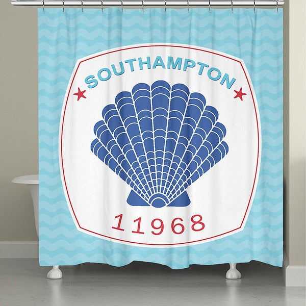 Laural Home South Hampton Beach Shower Curtain (71-inch x 74-inch)