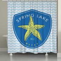 Laural Home Spring Lake Beach Shower Curtain (71-inch x 74-inch)
