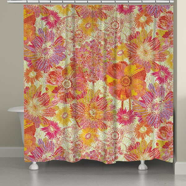 Laural Home Sunshine Blooms Shower Curtain (71-inch x 74-inch)