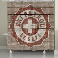 Laural Home Vintage Ski Patrol Shower Curtain (71-inch x 74-inch)