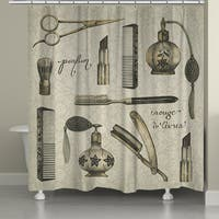 Laural Home Vintage Toilette Shower Curtain (71-inch x 74-inch)