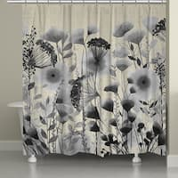 Laural Home Whimsical Florals Shower Curtain (71-inch x 74-inch)