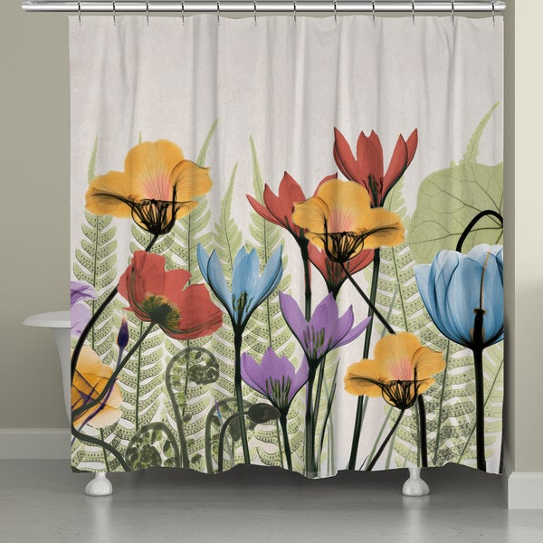 Laural Home X-Ray Flowers Shower Curtain (71-inch x 74-inch ...