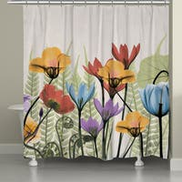 Laural Home X-Ray Flowers Shower Curtain (71-inch x 74-inch)