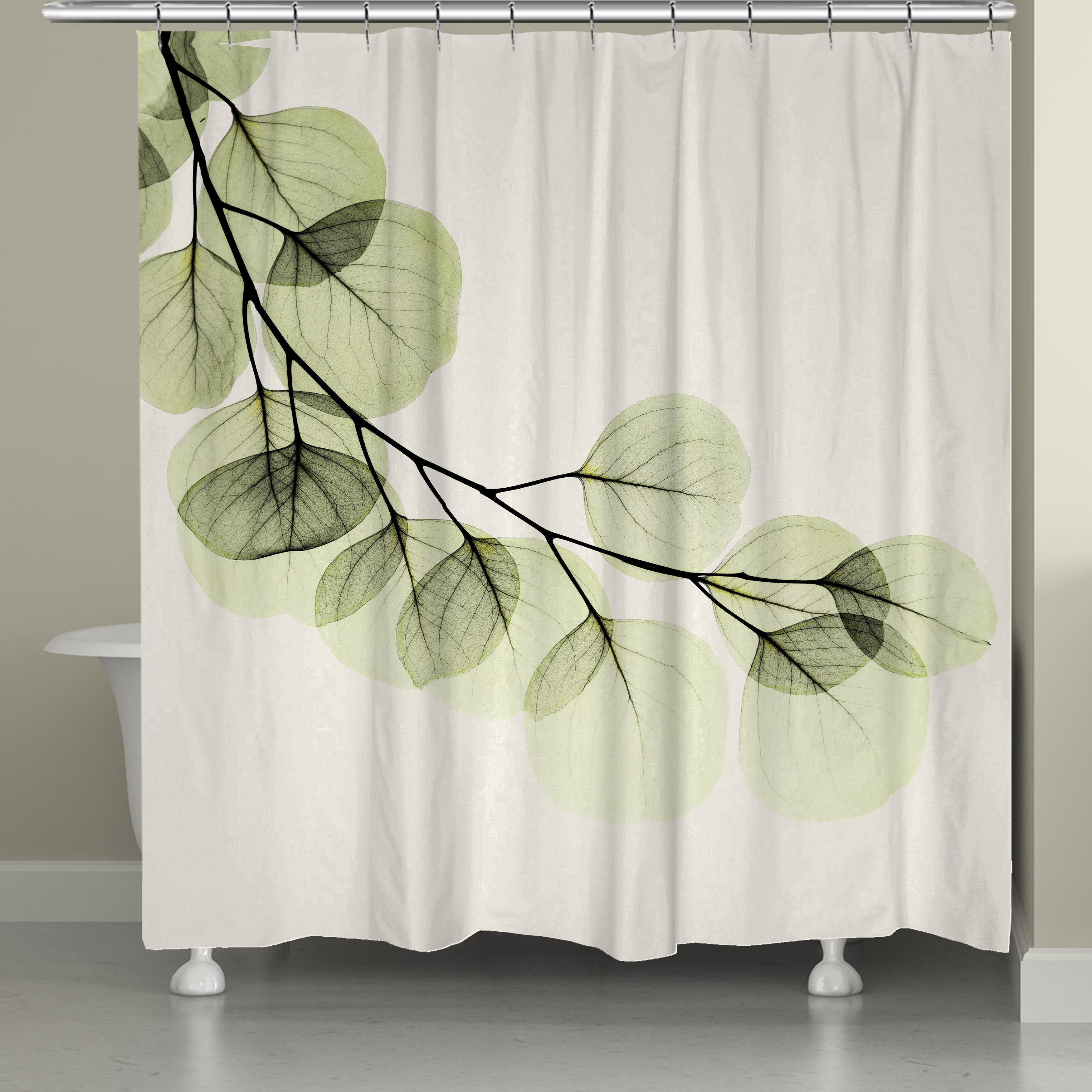 Laural Home X Ray Leaf Shower Curtain