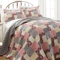 Amraupur Overseas Shannon Cotton 3-piece Printed Reversible Quilt Set
