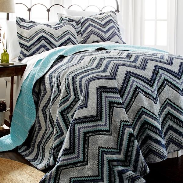 Amraupur Overseas Romero Cotton 3-piece Printed Reversible Quilt Set