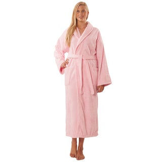 100-percent Pure Turkish Cotton Shawl Collar Terry Unisex Bathrobe