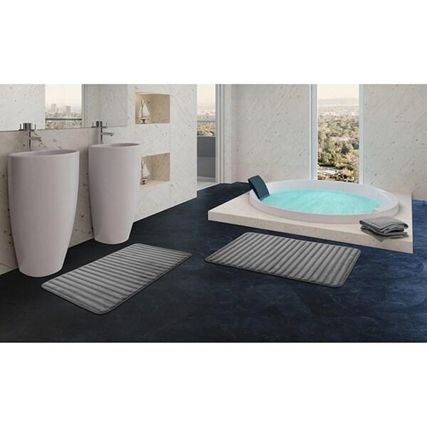 Extra Thick 24-inch Memory Foam Bath Mat (Set of 2) - 24