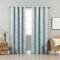 Aurora Home Marble Swirl Room-Darkening Grommet Top Curtain Panel Pair - 52 x 84