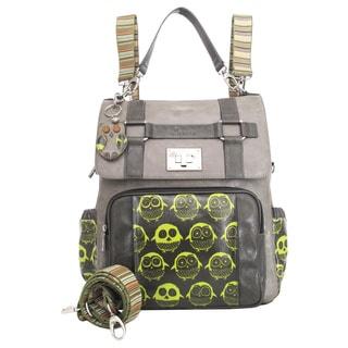 Joanel Grey and Lime Green Owl Diaper Bag Backpack